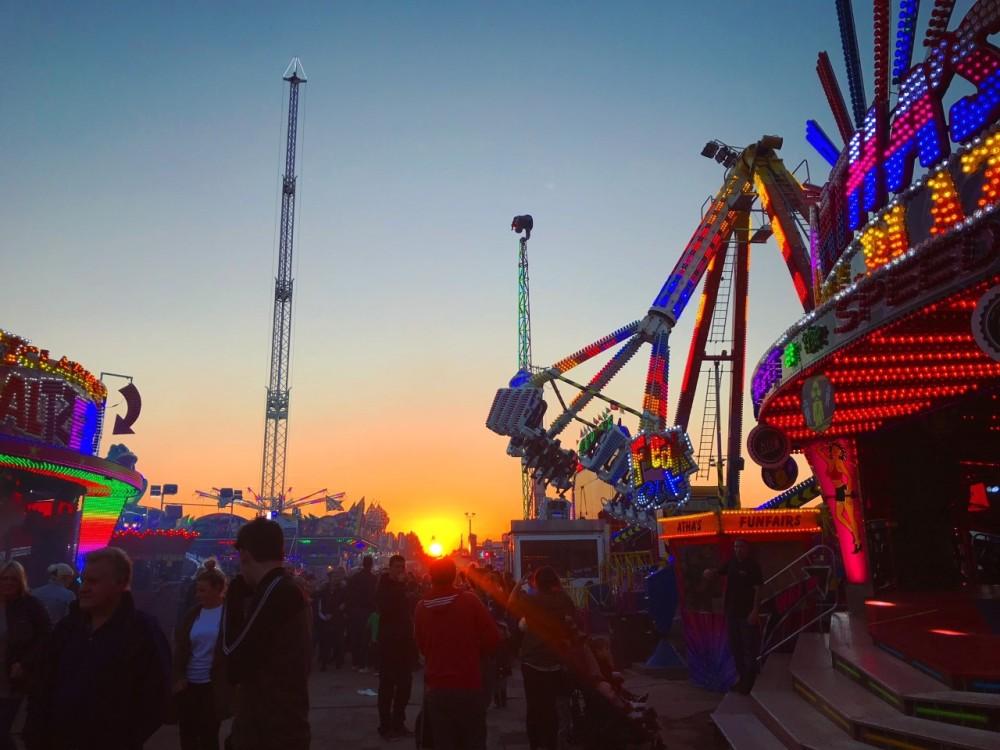Hull Fair at Sunset